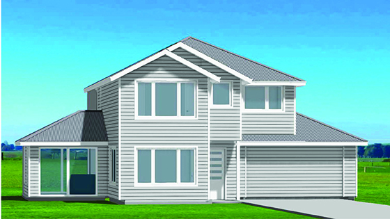 Lot 259 - Gabled 2 storey house Millwater, Silverdale