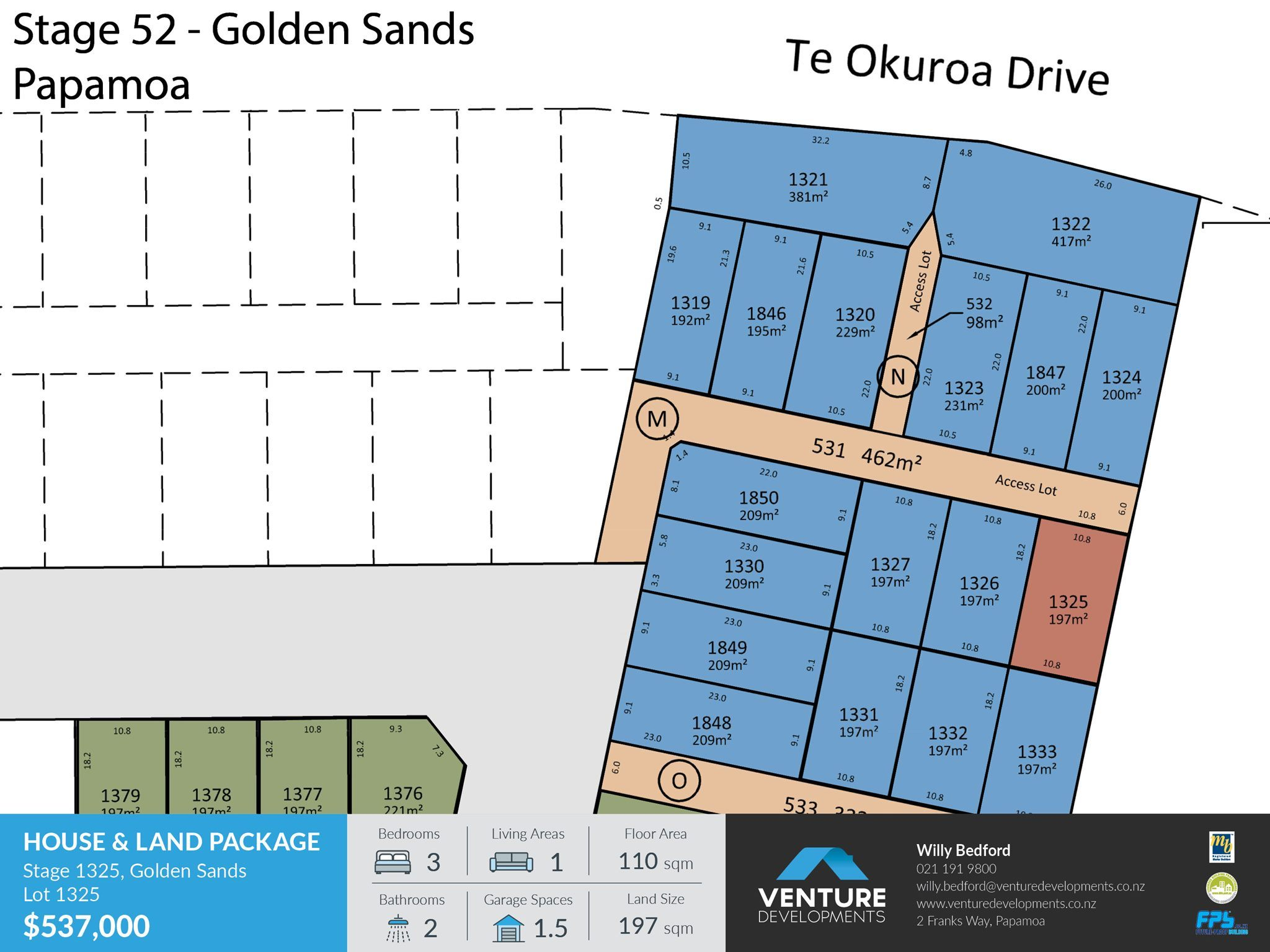 Lot 1326, Stage 52 - Golden Sands